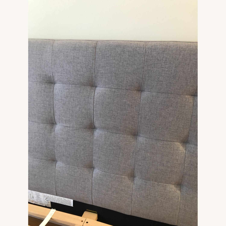 West Elm Gray Upholstered Queen Bed - image-8