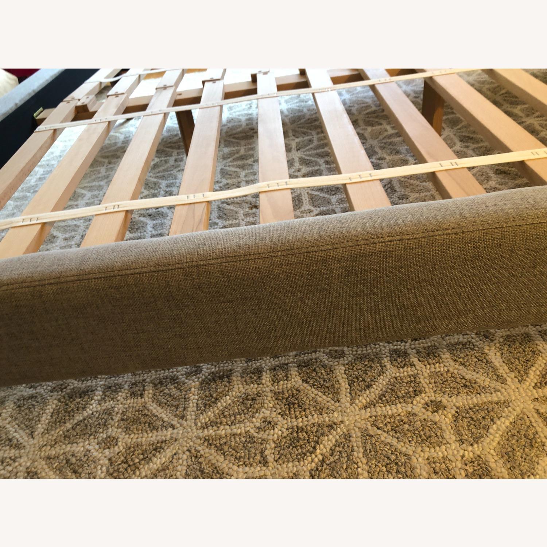 West Elm Gray Upholstered Queen Bed - image-25