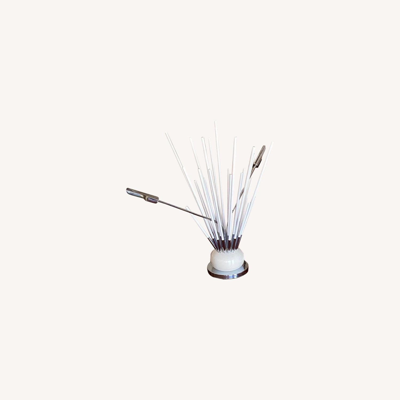 1970s Space Age Sputnik White Table Lamp - image-0