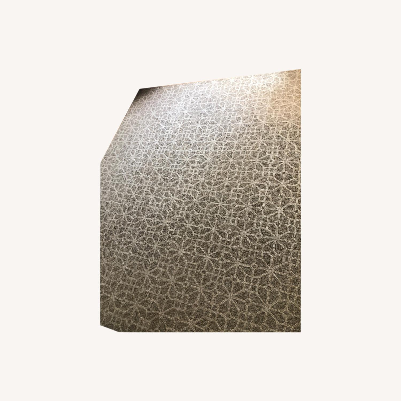 Crate & Barrel Lattice Pattern Rug - image-0