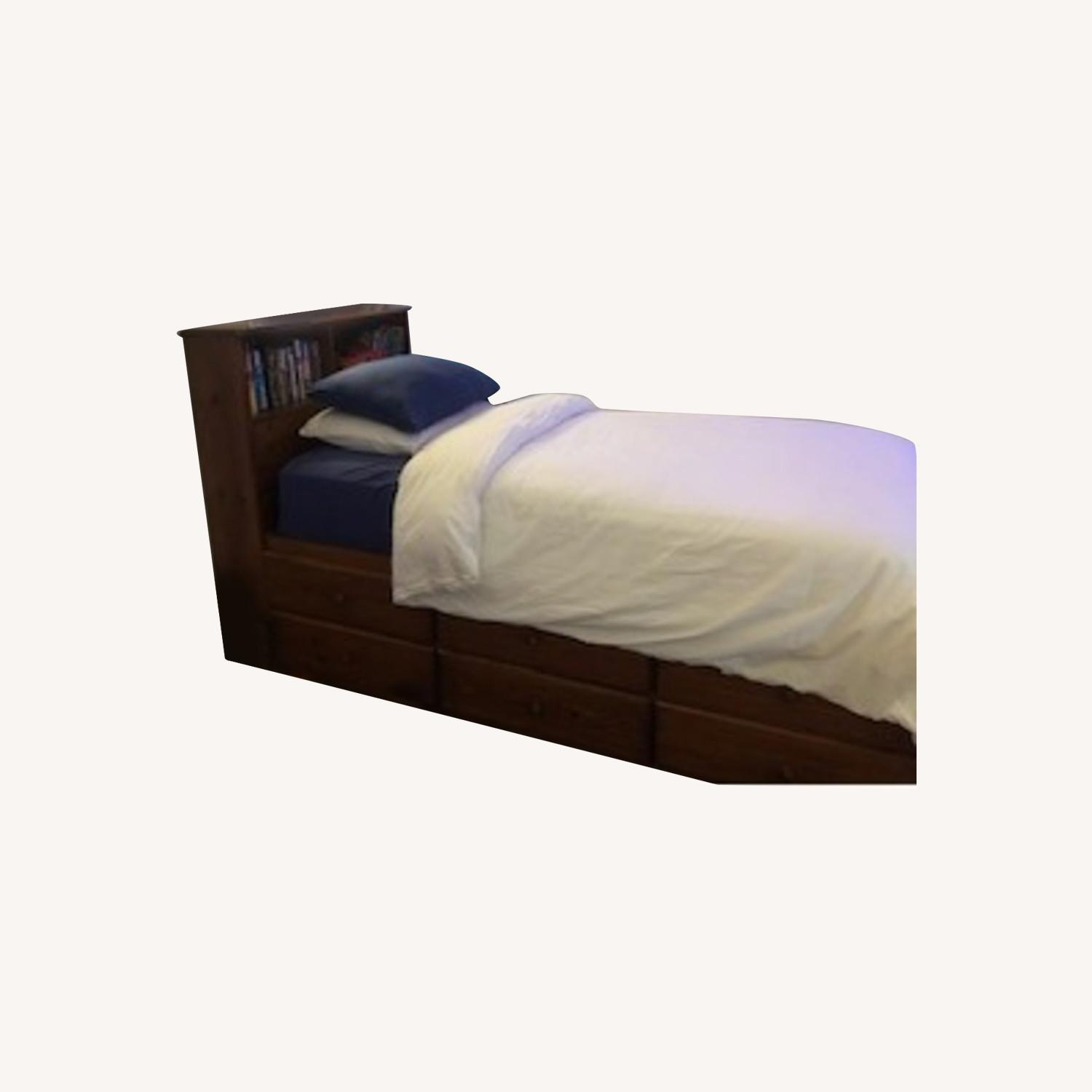 Gothic Cabinet Craft Captain's Bed and Headboard - image-0