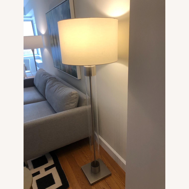 Crate & Barrel Avenue Nickel Floor Lamp - image-2