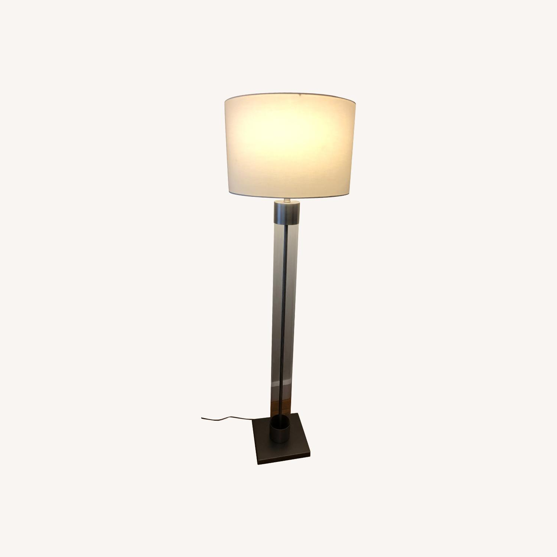 Crate & Barrel Avenue Nickel Floor Lamp - image-0