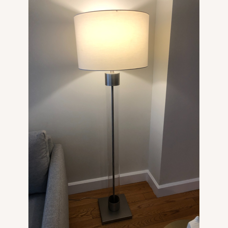 Crate & Barrel Avenue Nickel Floor Lamp - image-1