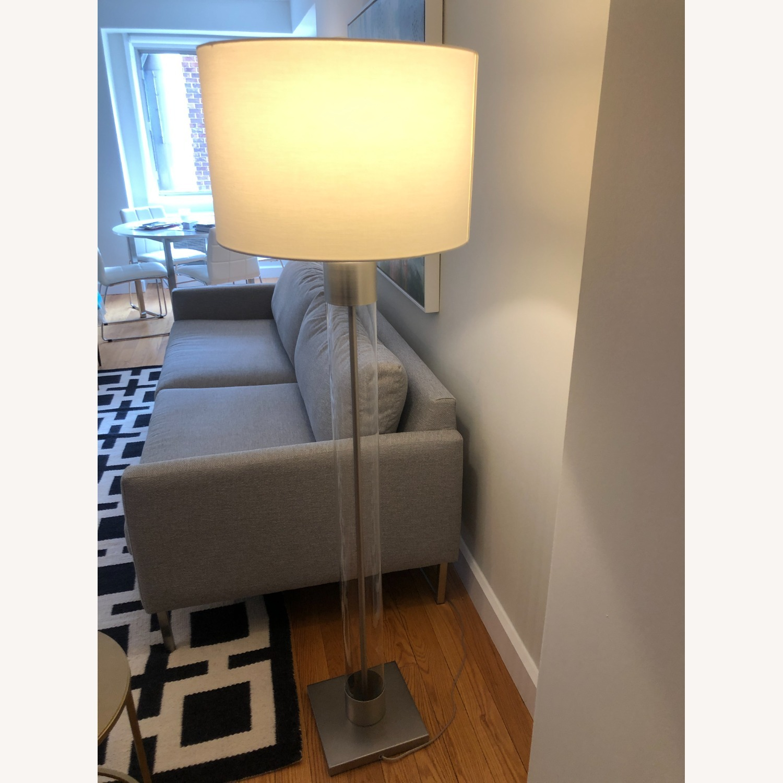 Crate & Barrel Avenue Nickel Floor Lamp - image-3