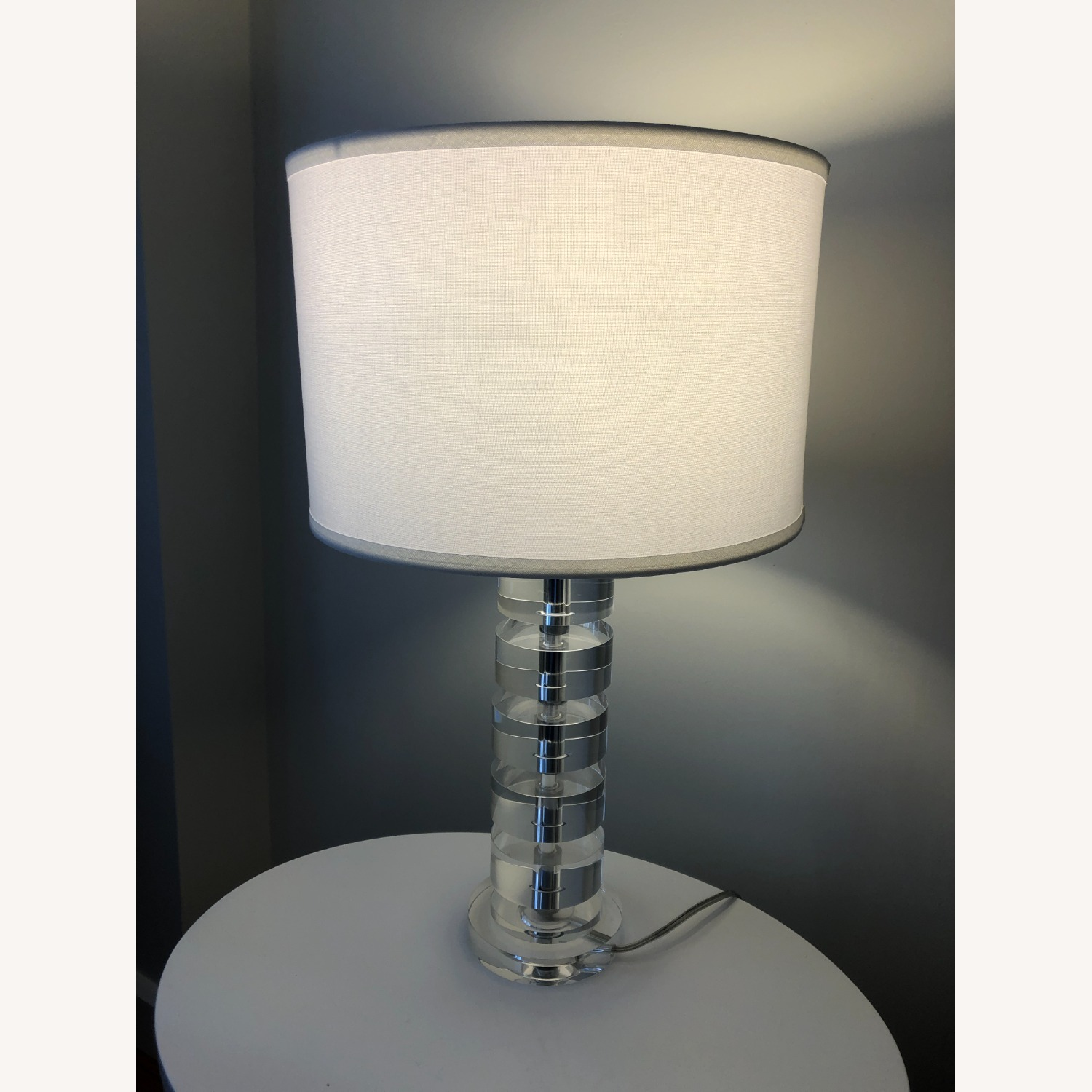 Crate & Barrel Sasha Crystal Table Lamp - image-3