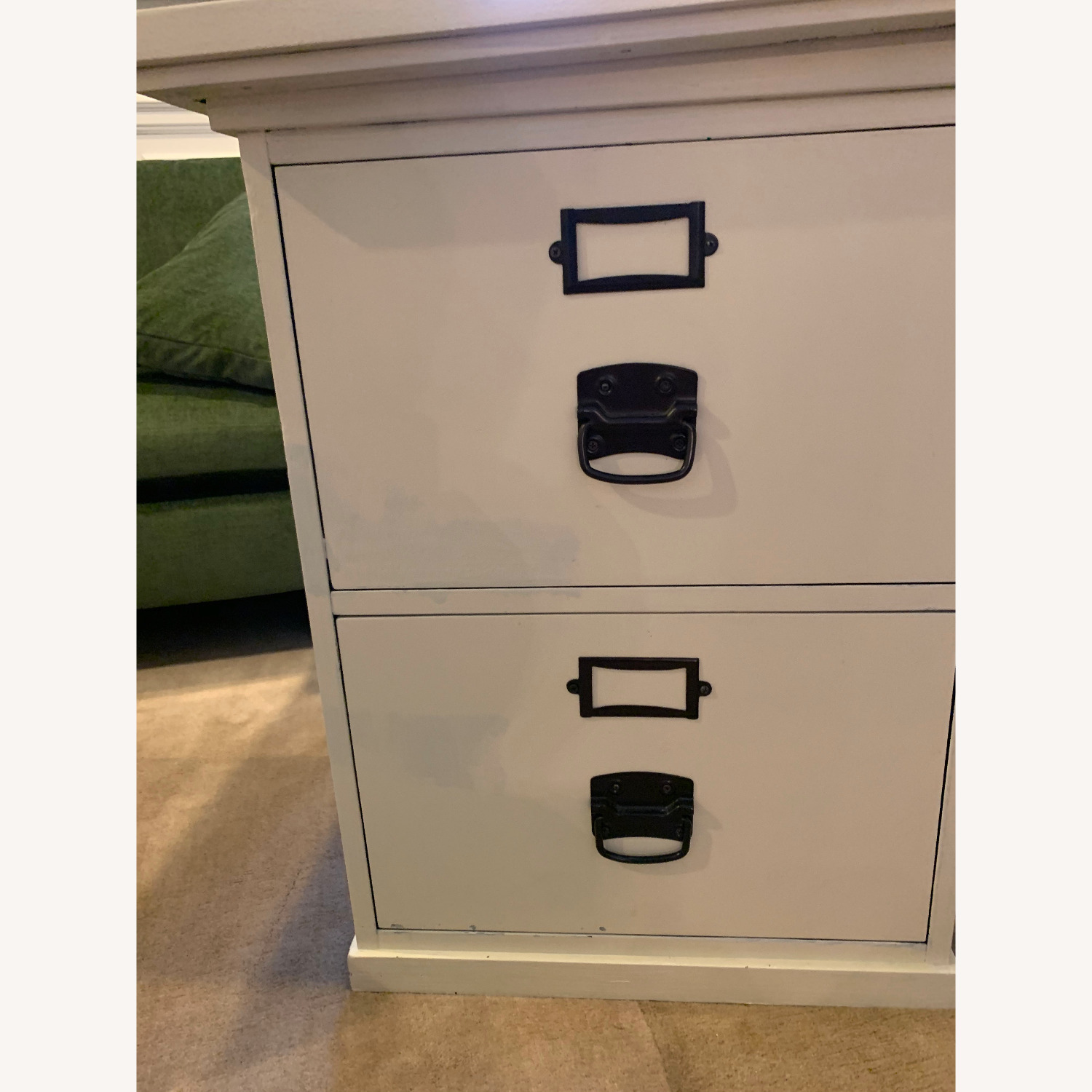 Pottery Barn Home Office Desk with 2 Drawer Cabinets - image-4