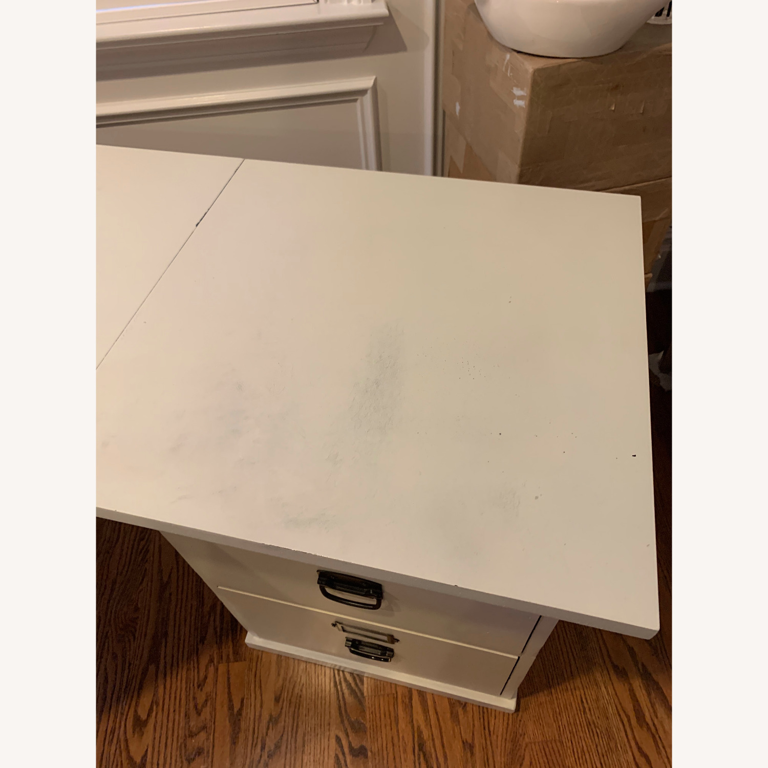 Pottery Barn Home Office Desk with 2 Drawer Cabinets - image-5