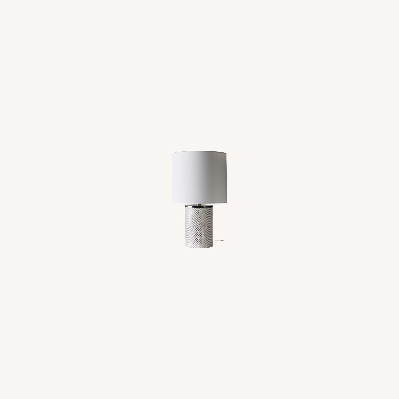 West Elm Deco Glass Table Lamp - image-0