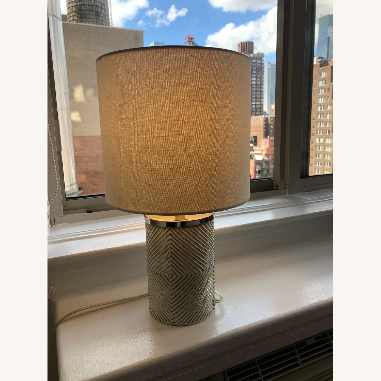 West Elm Deco Glass Table Lamp - image-2