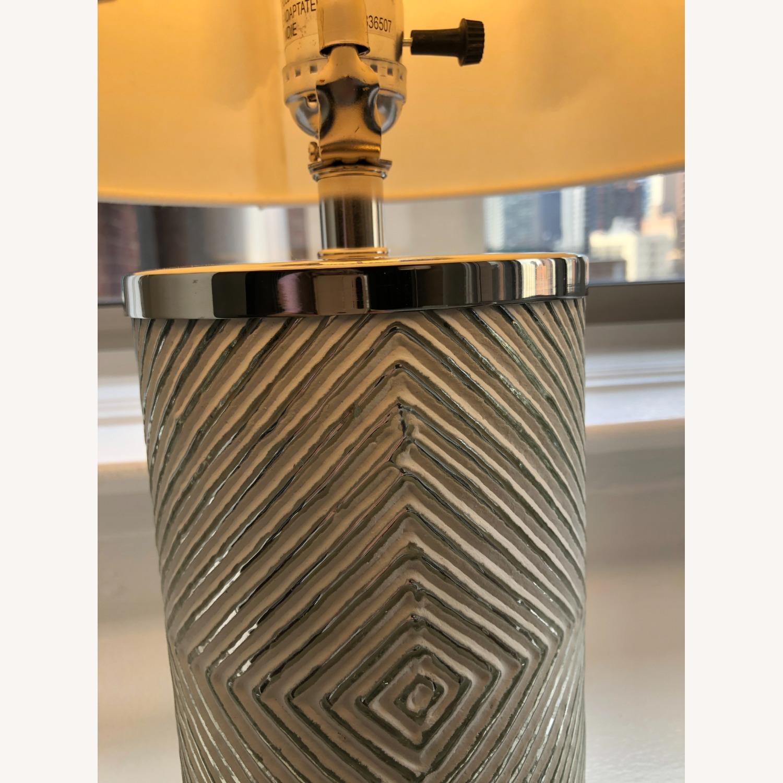 West Elm Deco Glass Table Lamp - image-4