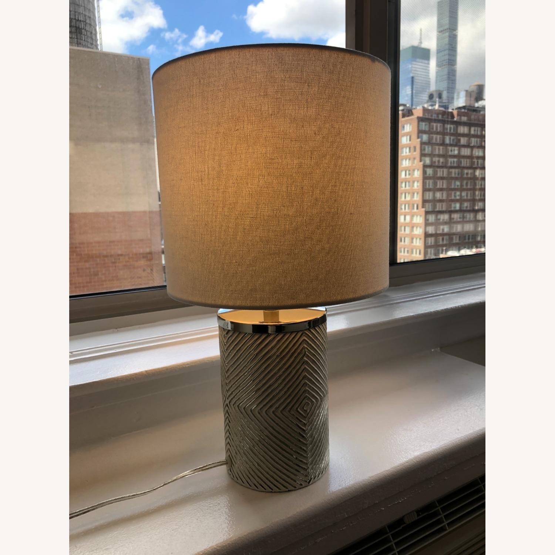 West Elm Deco Glass Table Lamp - image-3