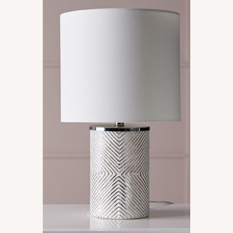 West Elm Deco Glass Table Lamp - image-5