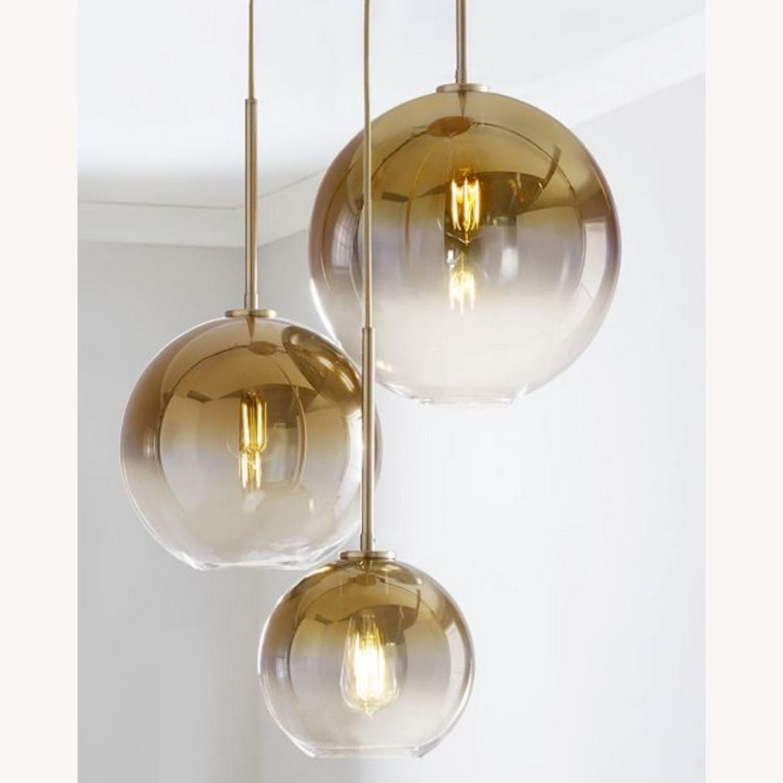 West Elm Sculptural Glass 3-Light Globe Chandelier - image-2