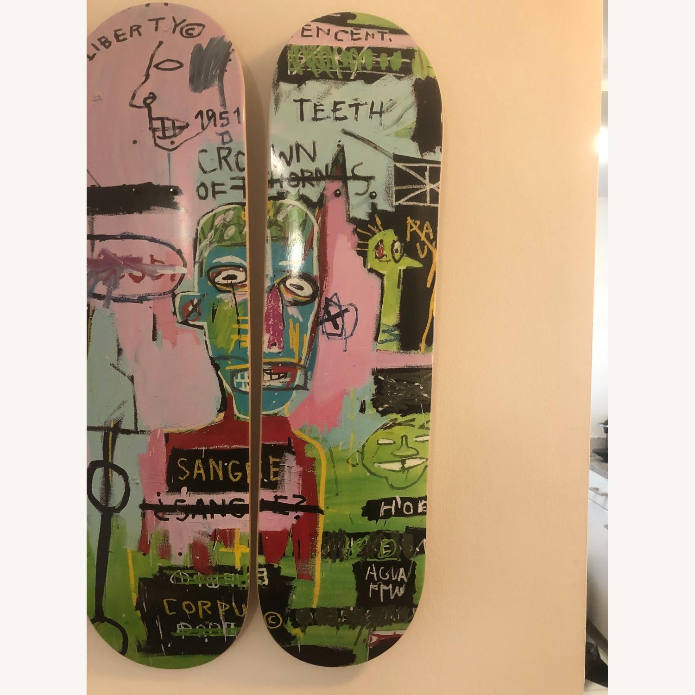Basquiat Skateboard Triptych In Italian - image-4