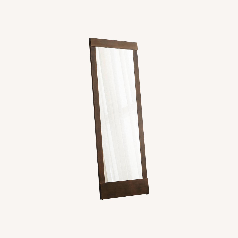 Crate & Barrel Colby Bronze Floor Mirror - image-0