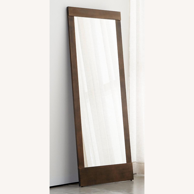Crate & Barrel Colby Bronze Floor Mirror - image-5