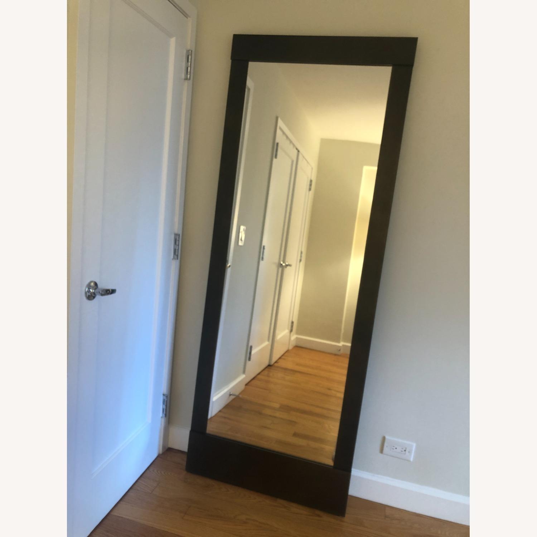 Crate & Barrel Colby Bronze Floor Mirror - image-1