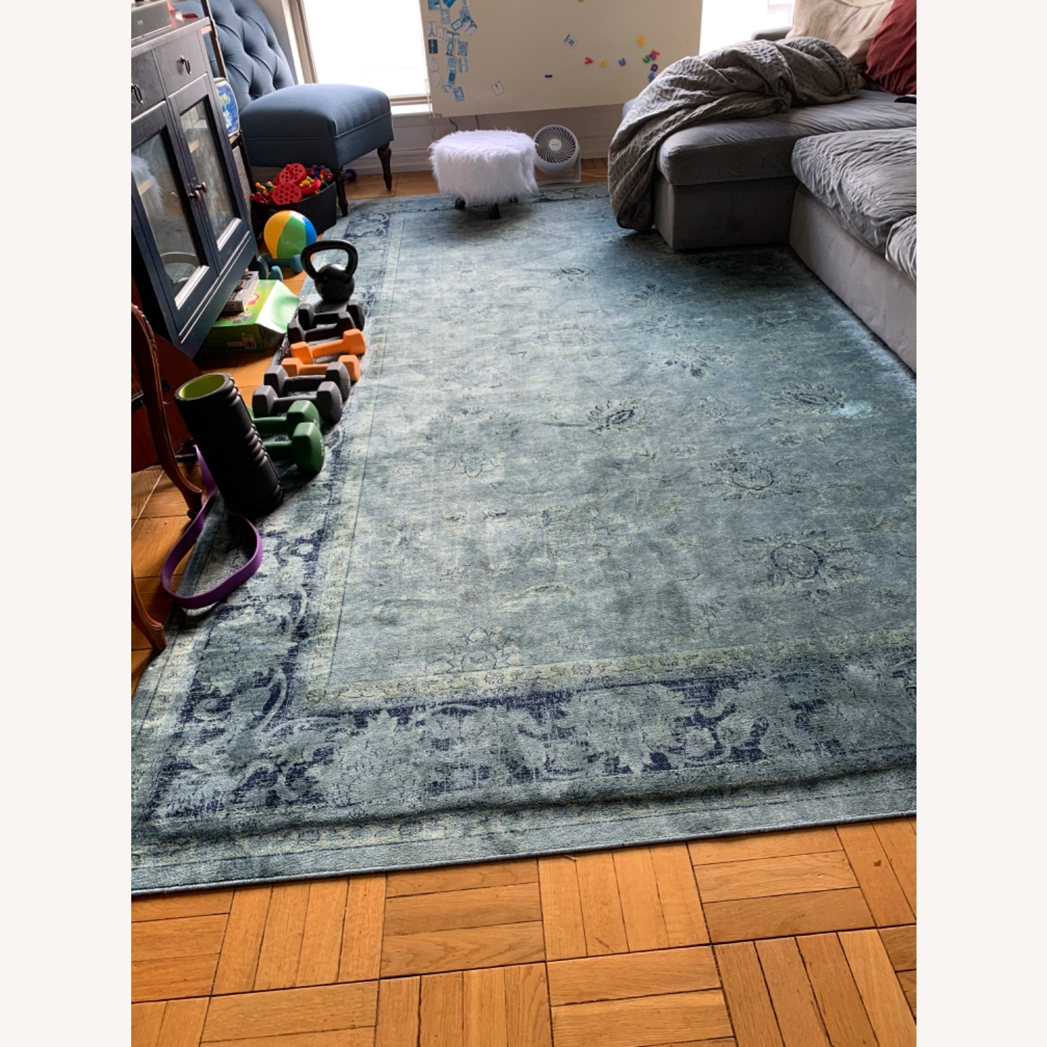 Safavieh Distressed Boho 9x12 Blue Rug - image-1