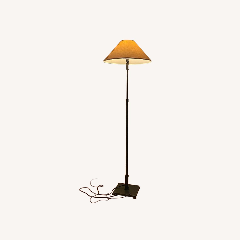 Restoration Hardware Brushed Metal Floor Lamps - image-0