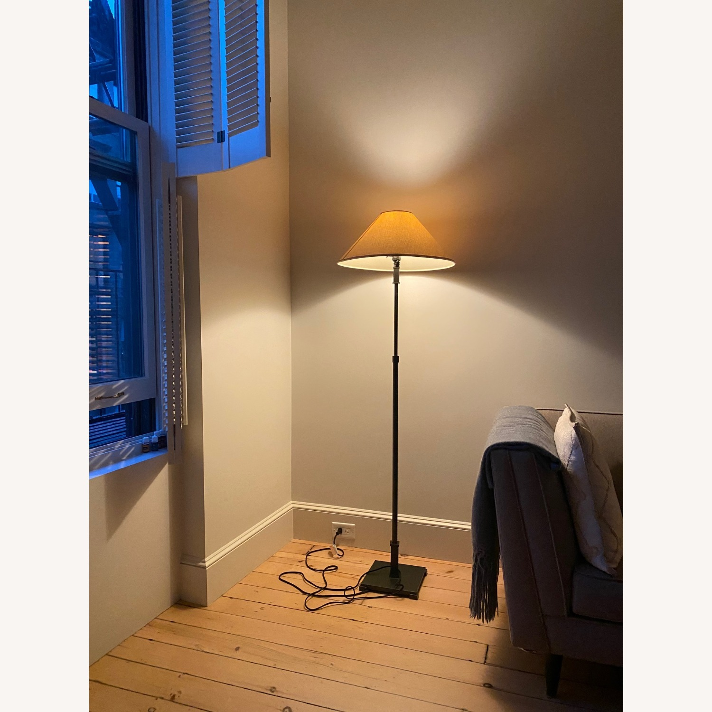 Restoration Hardware Brushed Metal Floor Lamps - image-1