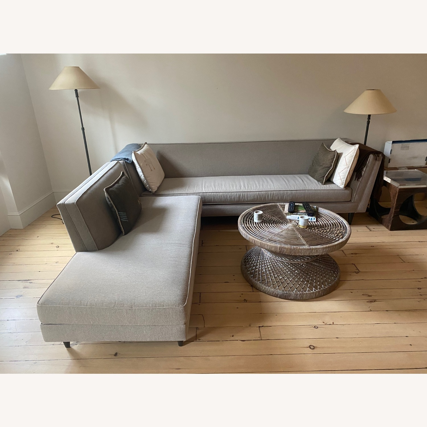 Room & Board Sand Colored Sectional - image-1