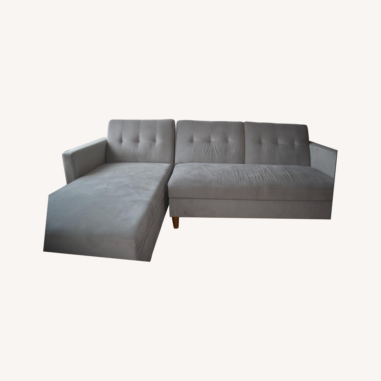 Wayfair Light Grey Sleeper Sofa - image-0