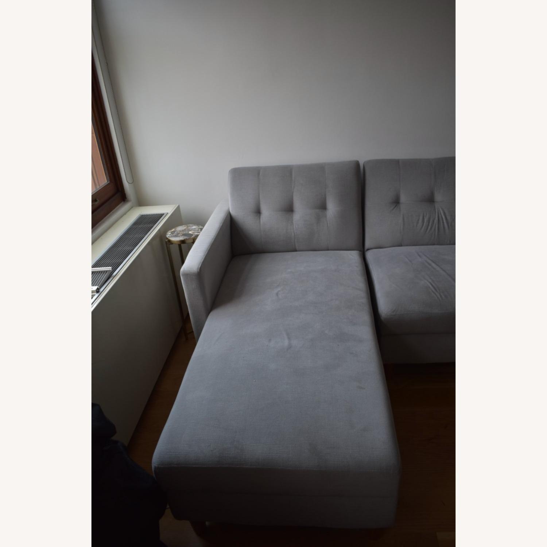 Wayfair Light Grey Sleeper Sofa - image-3