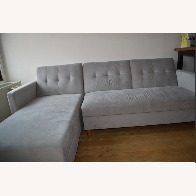 Wayfair Light Grey Sleeper Sofa - image-1