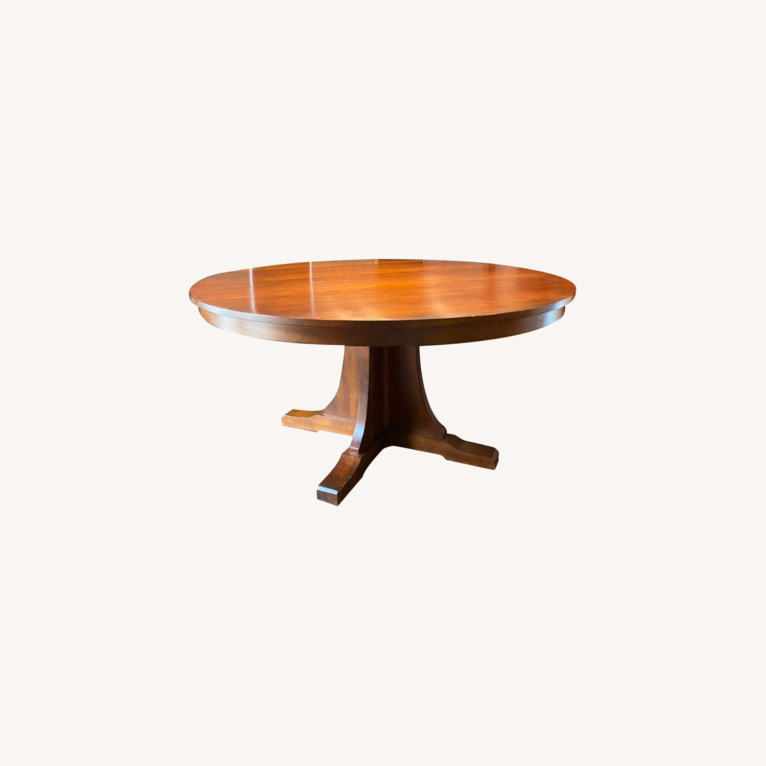 Stickley Round Dining Table with 3 Leaves - image-0