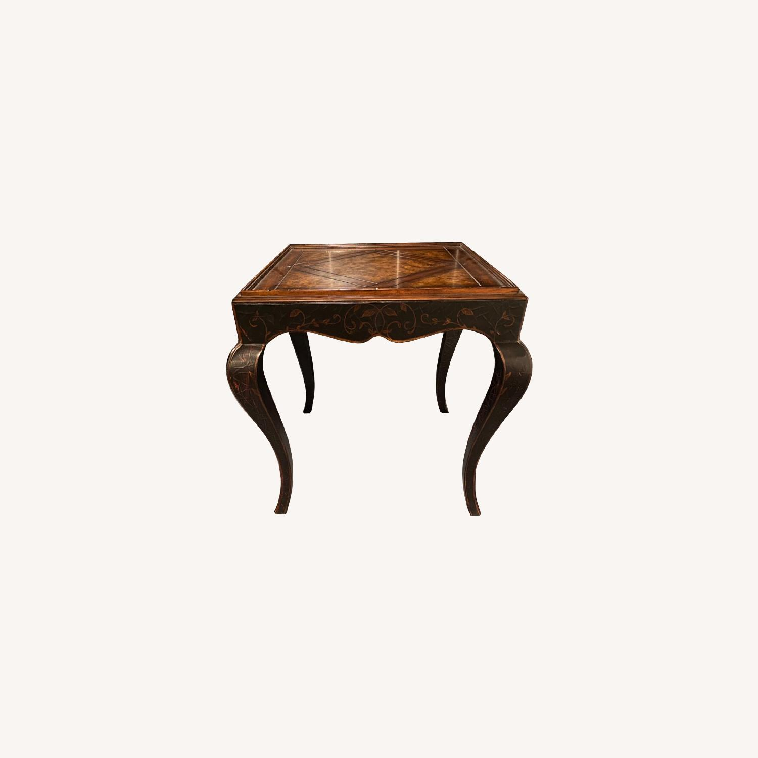 Baker Milling Road Chinoiserie Square Side Table - image-0