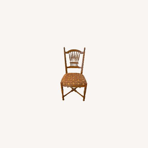 Used Stickley Wheat Back Dining Chairs set of 6 for sale on AptDeco
