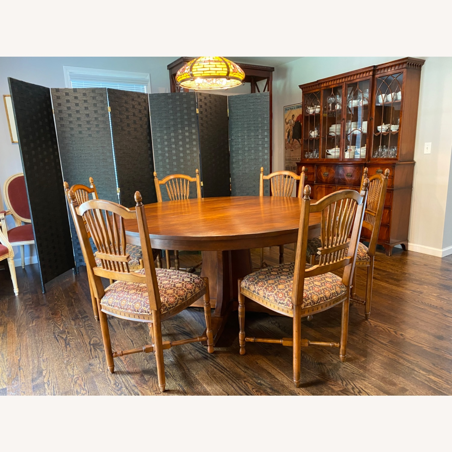 Stickley Wheat Back Dining Chairs set of 6 - image-8