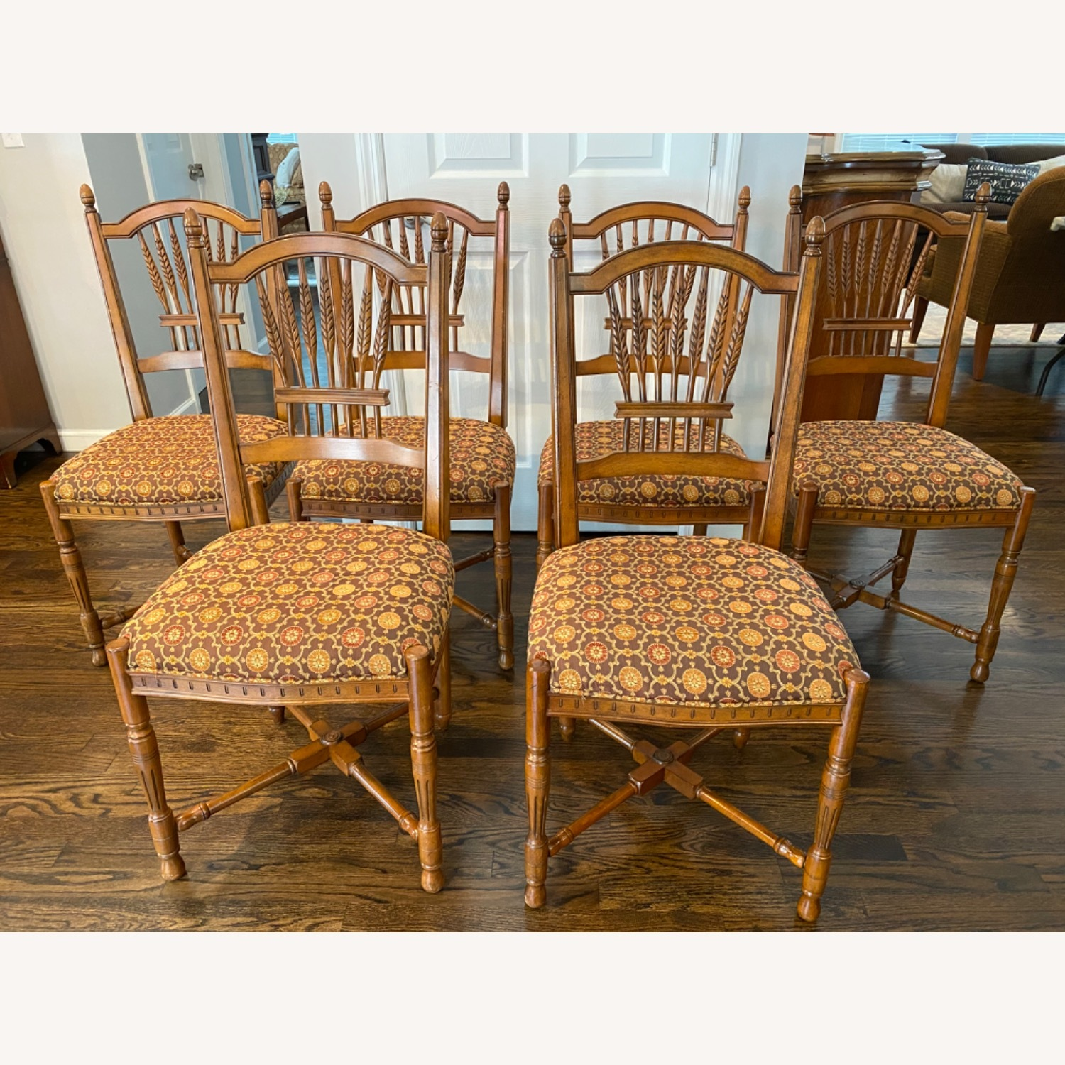 Stickley Wheat Back Dining Chairs set of 6 - image-1
