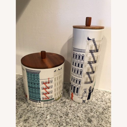Used Bloomingdale's Kate Spade Kitchen Canister Set for sale on AptDeco