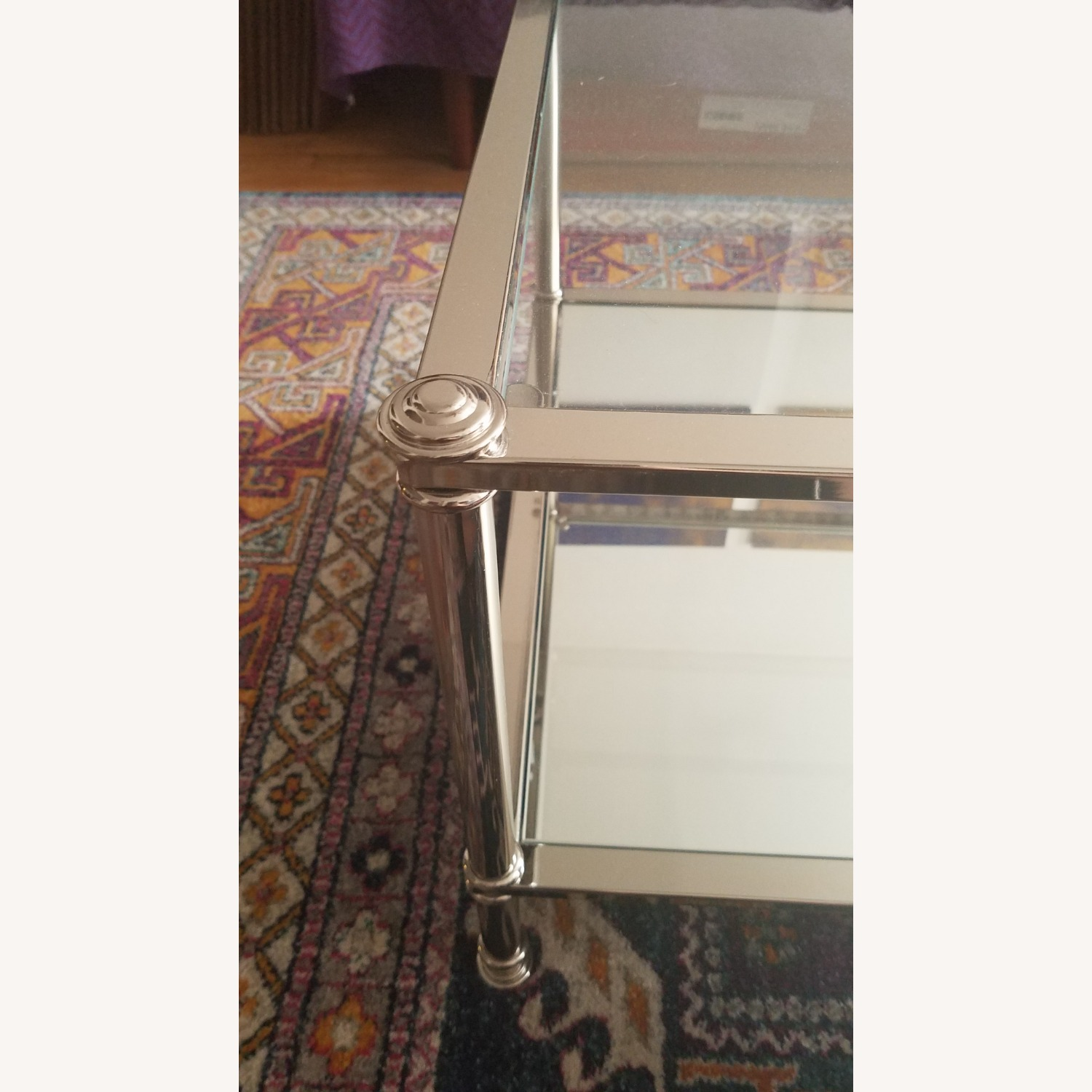 Wayfair Atticus Glass and Silver Coffee Table - image-2