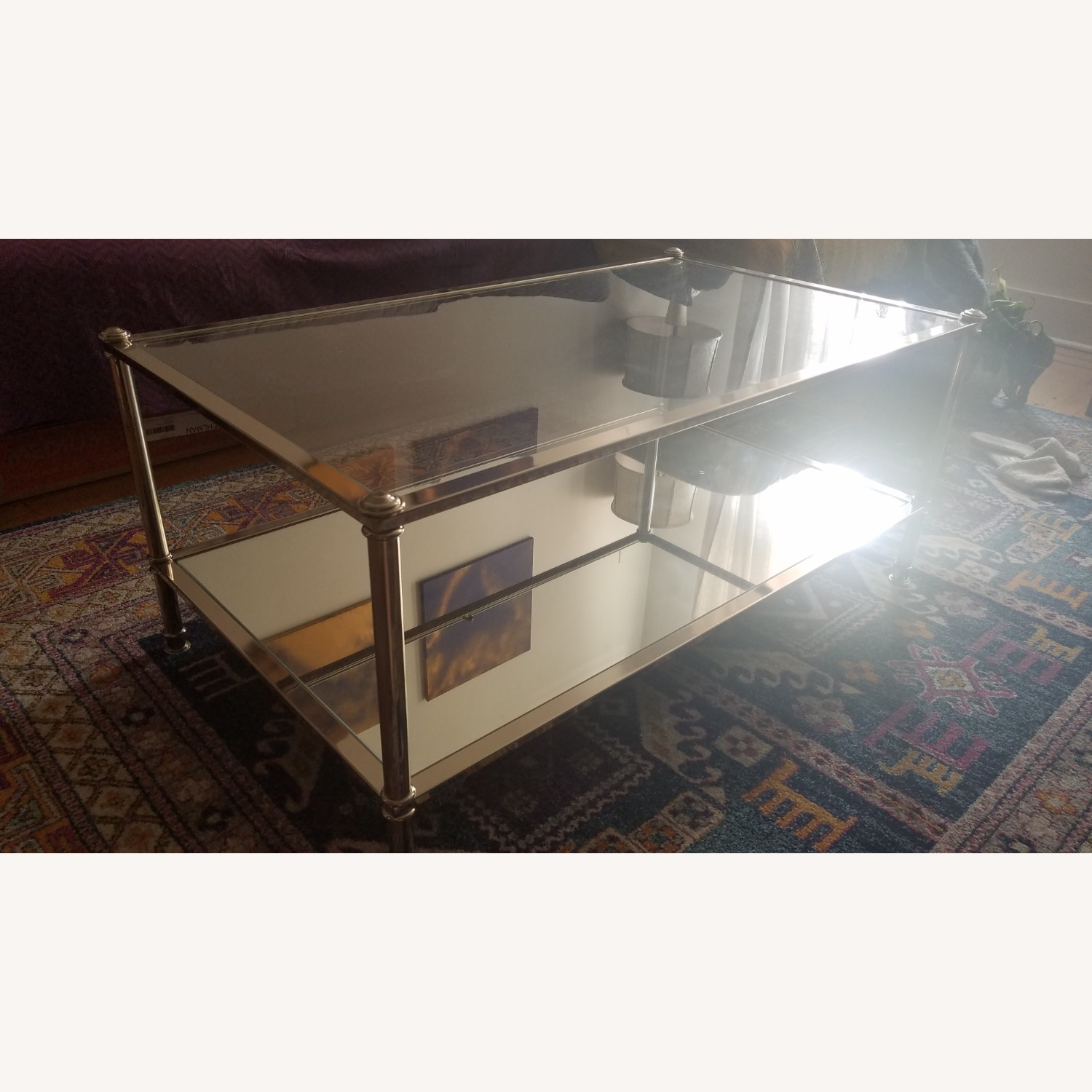 Wayfair Atticus Glass and Silver Coffee Table - image-3