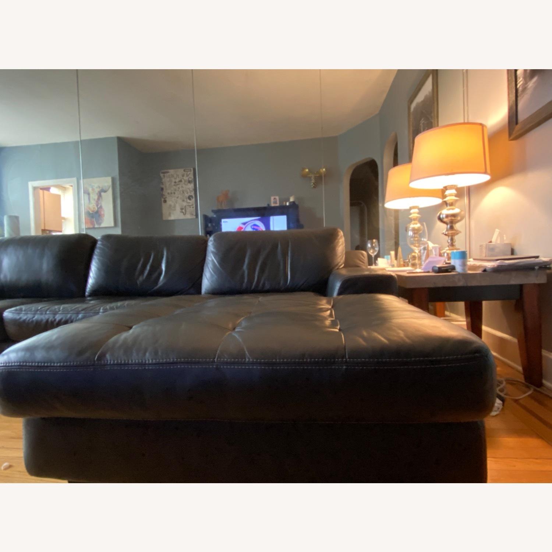 Black Leather Sofa - image-5
