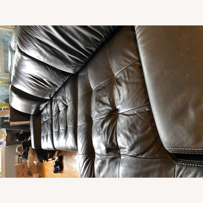 Black Leather Sofa - image-3