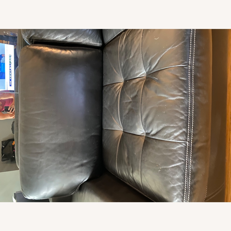 Black Leather Sofa - image-7