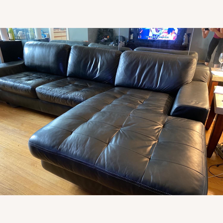 Black Leather Sofa - image-6