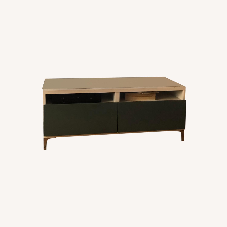 IKEA White & Green TV Unit Storage - image-0
