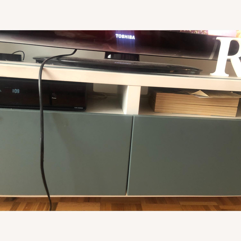 IKEA White & Green TV Unit Storage - image-2