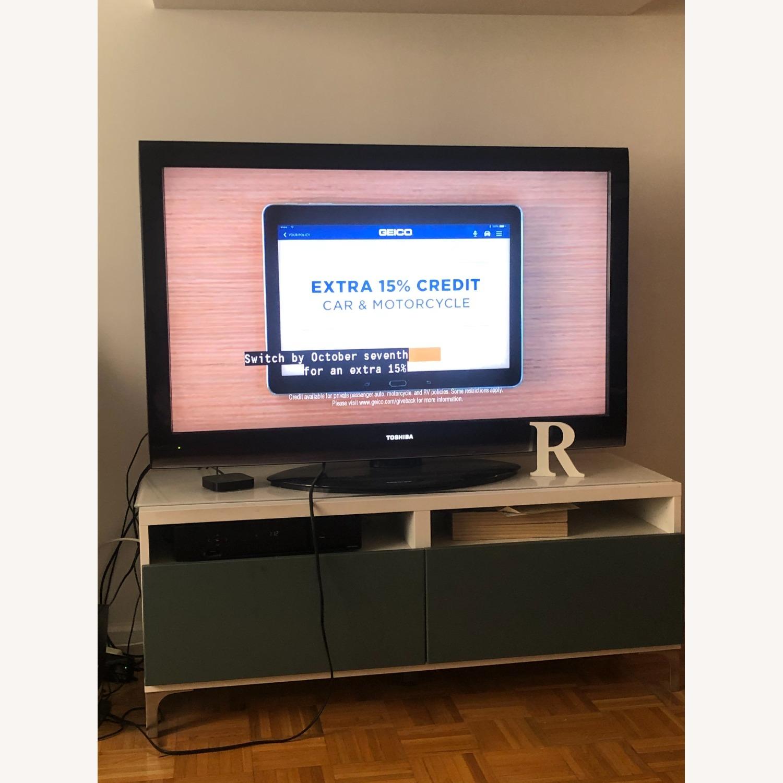 IKEA White & Green TV Unit Storage - image-4