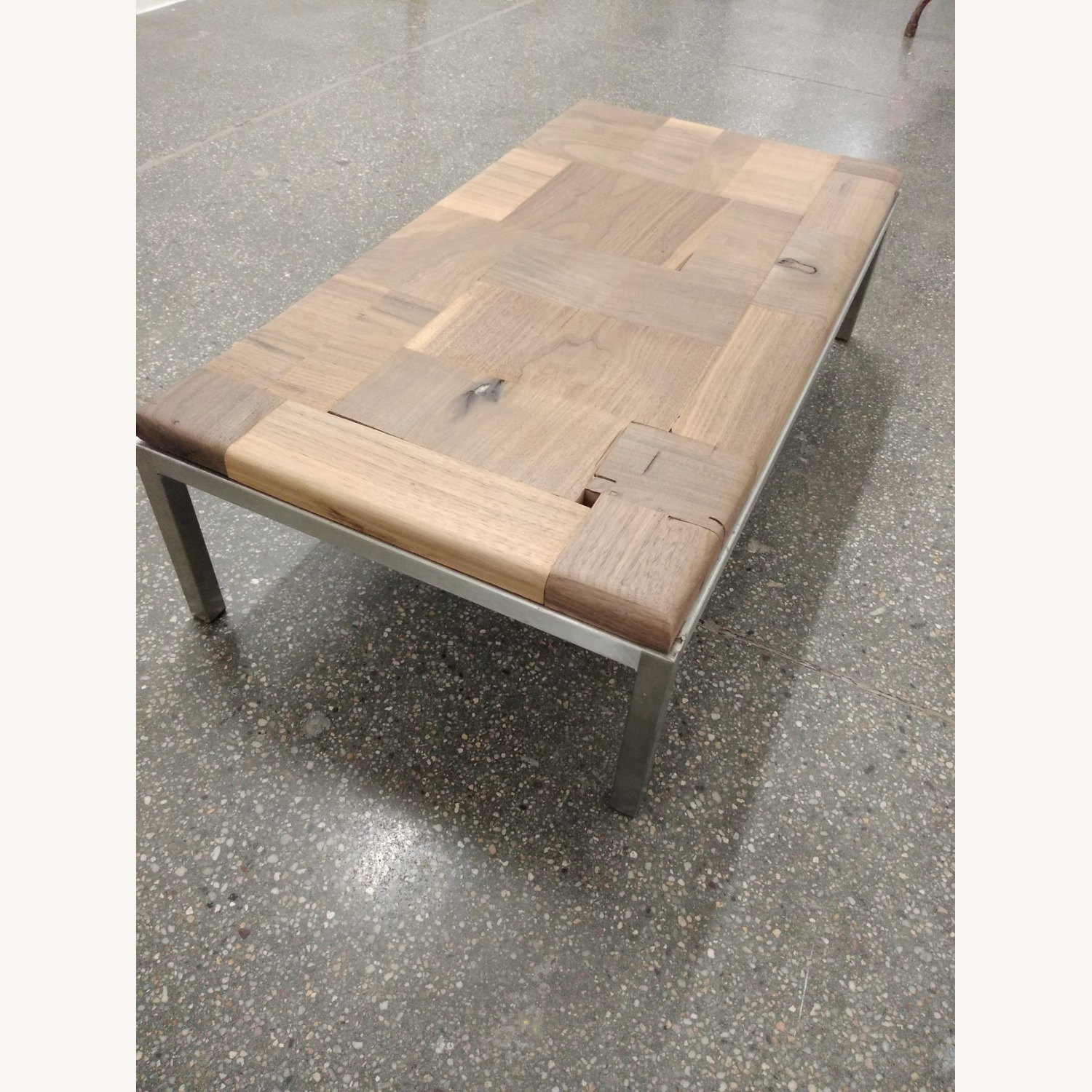 Restoration Hardware Solid Walnut Mosaic Coffee Table - image-10