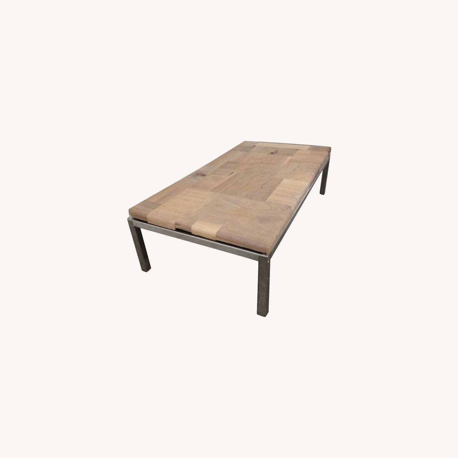 Restoration Hardware Solid Walnut Mosaic Coffee Table - image-0