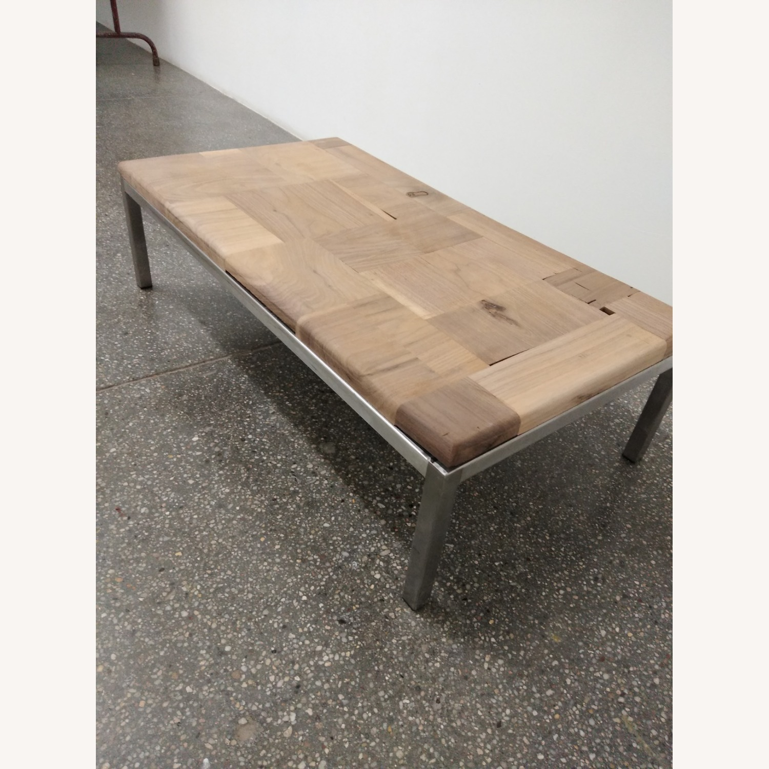 Restoration Hardware Solid Walnut Mosaic Coffee Table - image-6