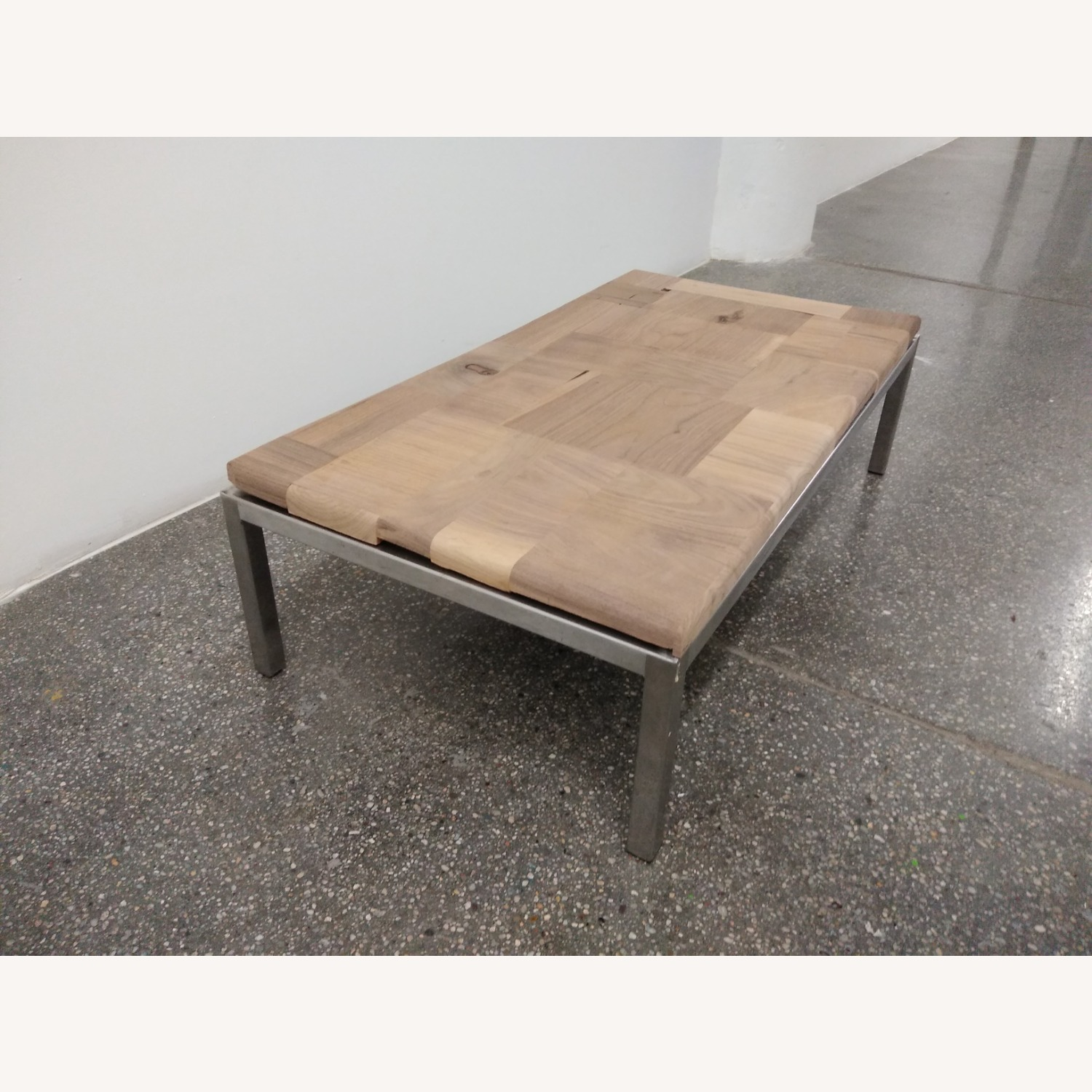 Restoration Hardware Solid Walnut Mosaic Coffee Table - image-4