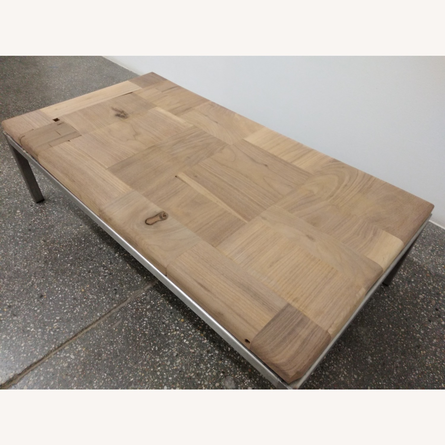 Restoration Hardware Solid Walnut Mosaic Coffee Table - image-5