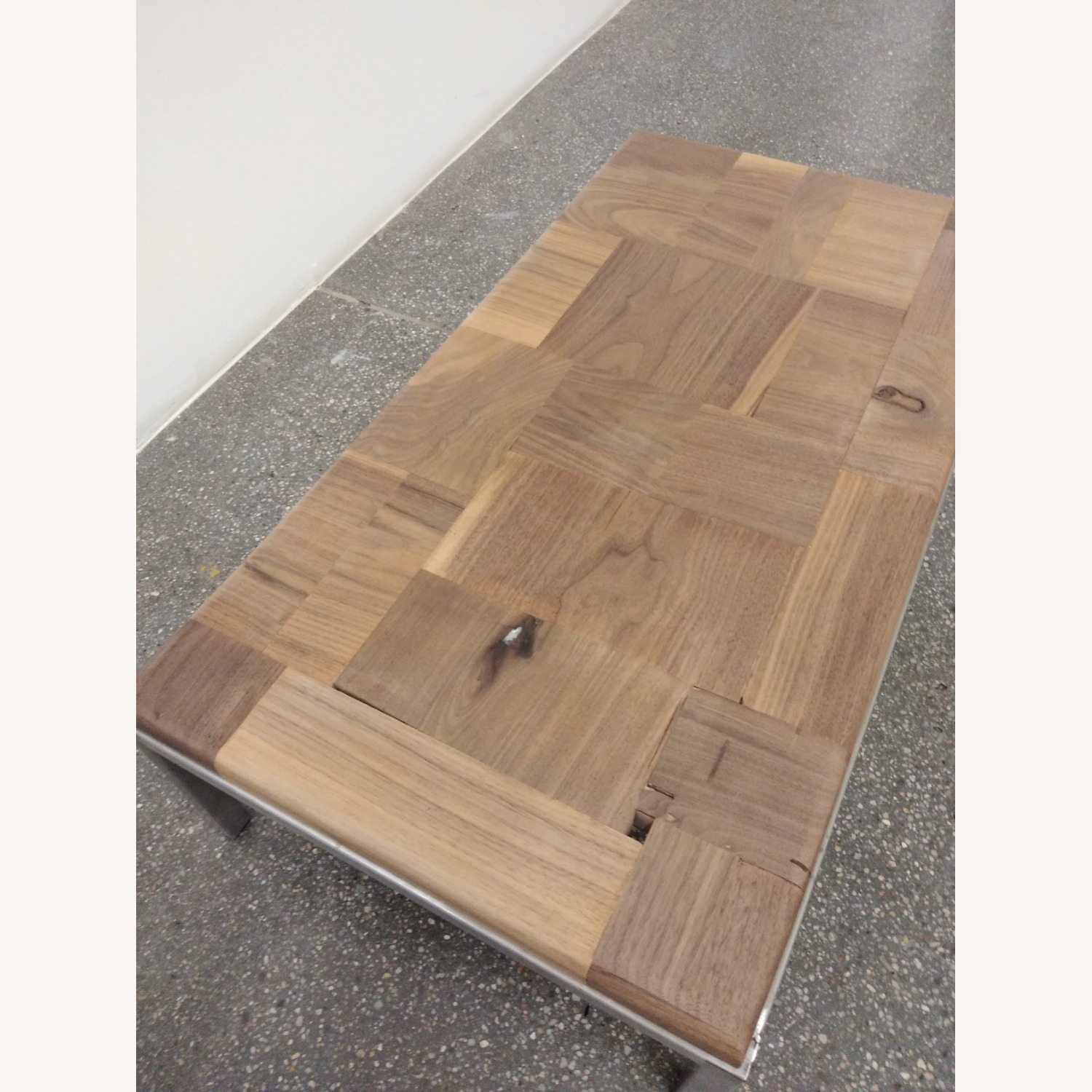 Restoration Hardware Solid Walnut Mosaic Coffee Table - image-8